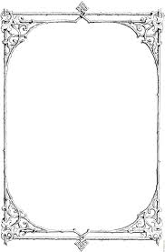 french halloween printables clip art borders z31 coloring page