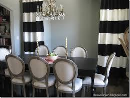 life love larson diy no sew black u0026 white striped curtains
