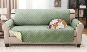 Green Sofa Slipcover by 73 Off On Reversible Furniture Protector Groupon Goods