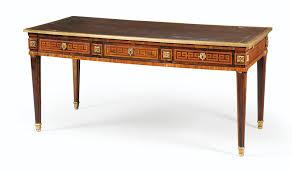 modele de bureau bureau plat en placage de bois de et bois de violette de style