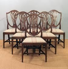 Antique Mahogany Dining Room Furniture Set Of Six Antique Dining Chairs Hepplewhite Dining Chairs 6