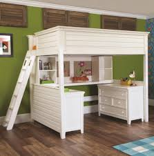 excellent queen loft bed with desk and exterior gallery re doing
