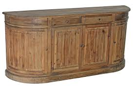 Curved Sideboard Th 661 Pine Curved Door Buffet