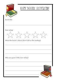 simple book review template free printable paper for writing in
