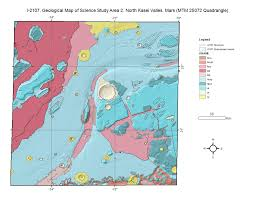 Viking Map Mars Viking Geologic Map I 2107 Of North Kasei Valles Usgs