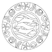 Coloriage Dauphin Coloriage Mandala Dauphin A Imprimer  rlnginfo