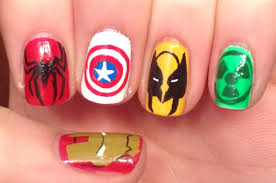 marvel nail art tutorial request youtube