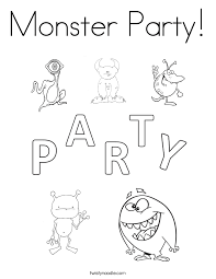 twisty noodle coloring pages monster party coloring page twisty noodle