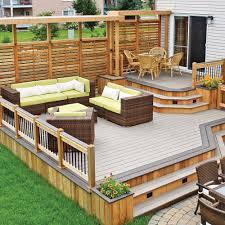 Patio Deck Ideas Backyard by Variations Sur Deux Tons Pour Le Patio Patio Inspirations