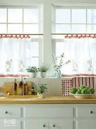 white red cafe curtains for kitchen popular cafe curtains for