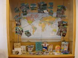 World Map Bulletin Board by Tracking Traveling Paper Dolls New Media Old Media And Global
