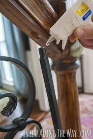 How To Refinish A Wood Banister How To Install Iron Balusters View Along The Way