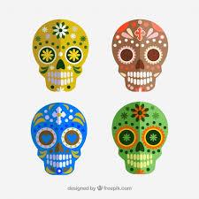 dia de los muertos sugar skulls smile sugar skull dia de los muertos vector free