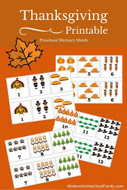 printable thanksgiving memory match for preschoolers modern