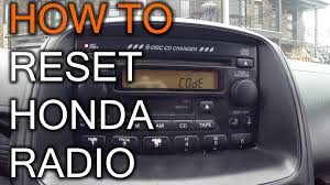 radio serial number honda accord how to reset your honda radio when you get code message