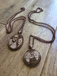 Photo Engraved Necklace Engraved Necklace With Photo U2013 Sweenks Laser Engraving