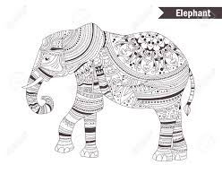 elephant coloring book for antistress coloring pages