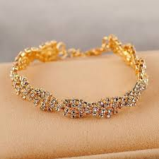 simple gold bracelet price images Gold silver crystal rhinestone chain bracelet women jewelry jpg