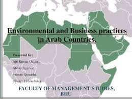 arab countries map environmental and business practices in arab countries