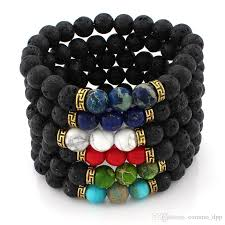 craft bracelet beads images Best 2016 new arrival lava rock beads charms bracelets colorized jpg