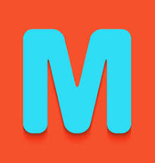 letter m sign design template element royalty free vector