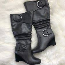 womens slouch boots size 9 wedge s slouch boots us size 9 ebay