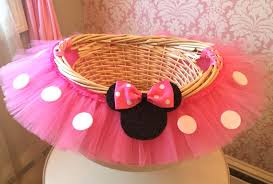 minnie mouse easter baskets medium minnie mouse inspired themed tutu basket birthday tutu