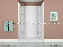 How To Install A Sterling Shower Door Installation Sterling Ensemble Advantage Or Intrigue Showers