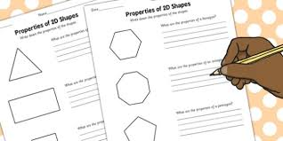 year 3 properties of 2d shapes activity sheet pack activity