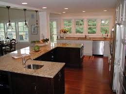 Kitchen Family Room Combo by Kitchen Cabinets Small L Shaped Kitchen With Corner Sink Combined