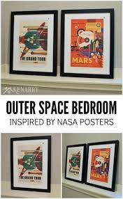 nasa posters inspire outer space bedroom