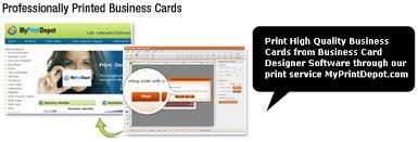 Business Card Printing Software Business Card Designer Professional Business Card Maker Software
