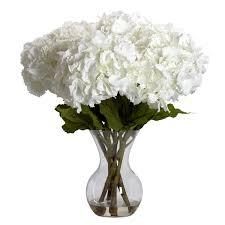13 inch silk blooming hydrangea arrangement in vase 1314