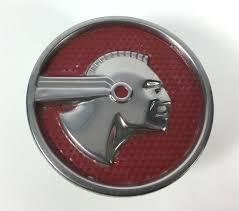 1951 52 53 vintage pontiac indian medallion ornament rear