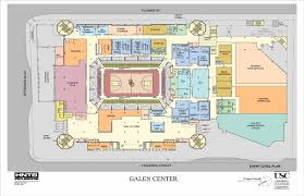 Map Sports Facility Arena Map Galen Center