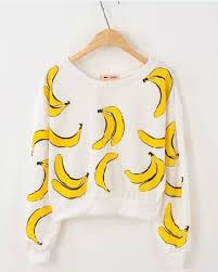 banana sweater sweater food tropical sweatshirt banana print wheretoget