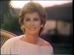 hairstyles in 1983 stefanie powers 1983 cover girl moisture wear makeup commercial