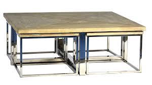 Pc Coffee Table Clover Design Oak Wood Coffee Table