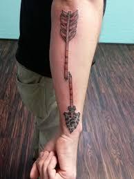my broken arrow done by shawn at chronic tattoo elyria ohio