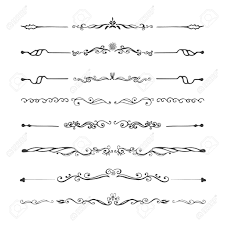 vintage dividers and ornaments calligraphic design elements