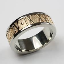 numeral ring numeral ring with gem two tone with satin band