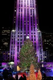 nyc christmas tree lighting amid protests police daily mail online
