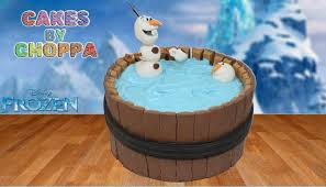 kit kat birthday cake frozen olaf video tutorial