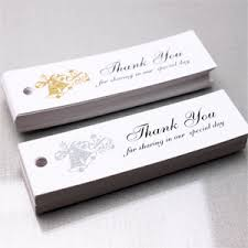 wedding tags for favors wedding bells thank you hang tags 50 pcs rectangle hang tags