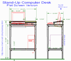 Standup Computer Desk Woodware Stand Up Computer Desk For Flat Monitor
