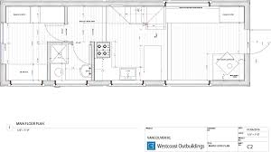 tiny house floorplan chinook 30 tiny house westcoast outbuildings