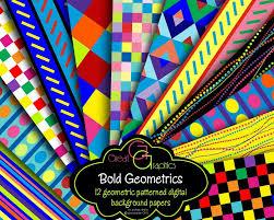 geometric digital paper multicolor geometric pattern checkered