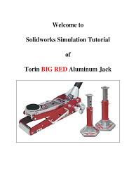 solidworks tutorial big red double click simulation