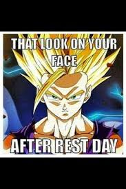 Dbz Gym Memes - how you feel after a back workout at the gym goku meme