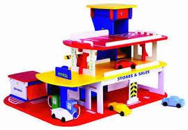 wooden auto car garage 3 levels grandpas toys